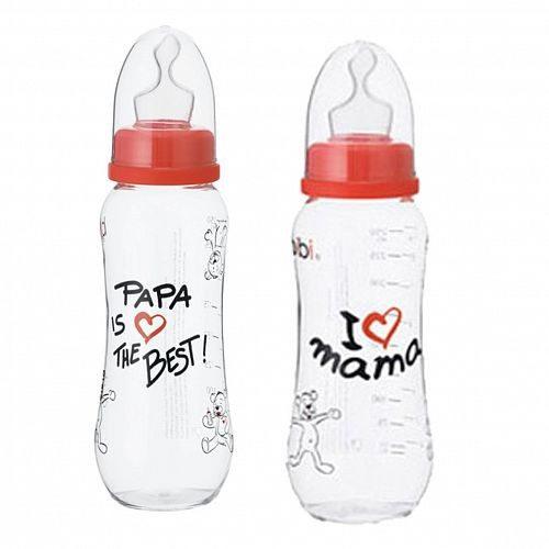 """Babyflesje """"Mama & Papa"""" 250 ml"""
