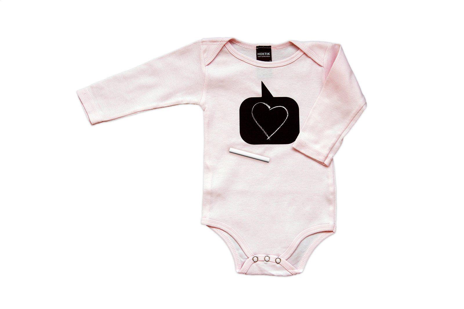 Beschrijfbaar babypakje - met krijtje