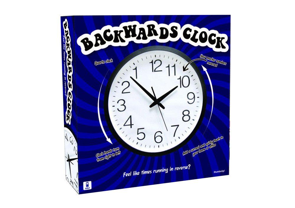 Die rückwärtslaufende Uhr - Verpackung