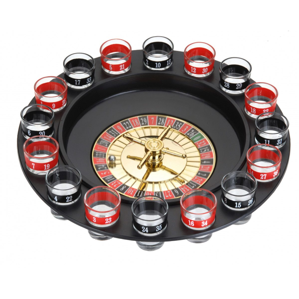 Glaasje op, speel roulette!