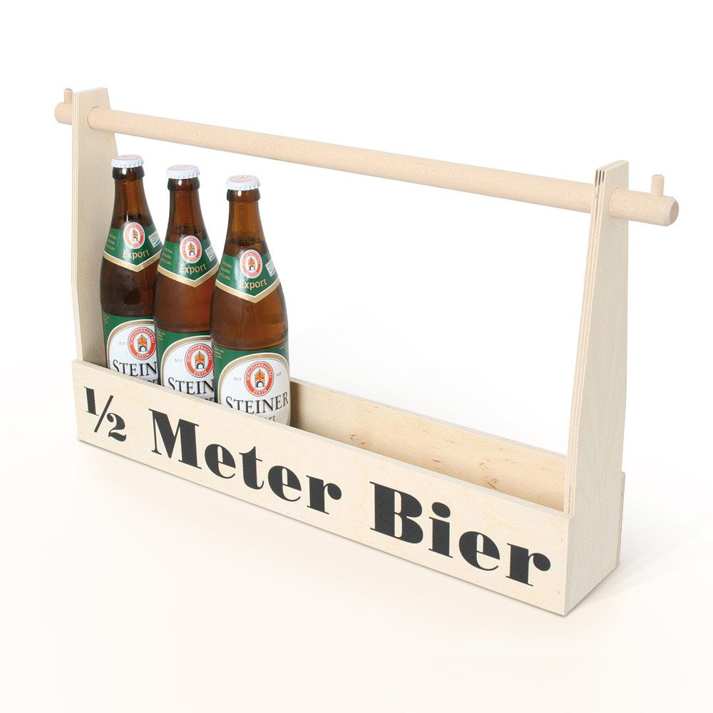 Halve meter bier met gravure