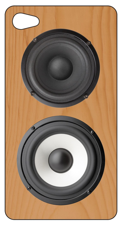 iPhone 4 hoes retro houten luidspreker