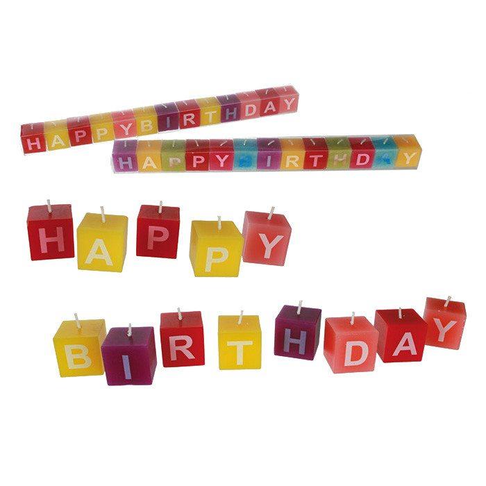"""Kaarsen """"Happy Birthday"""""""