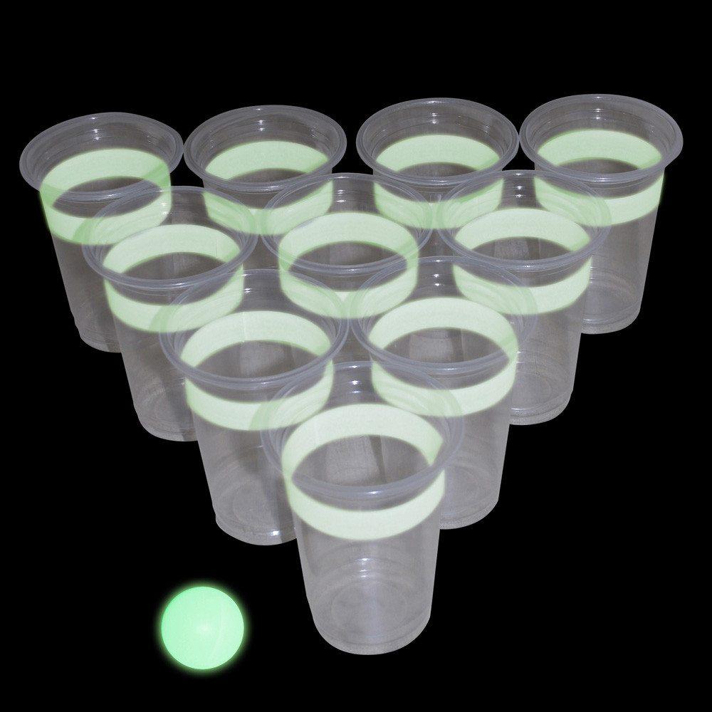 Lichtgevend bier pong