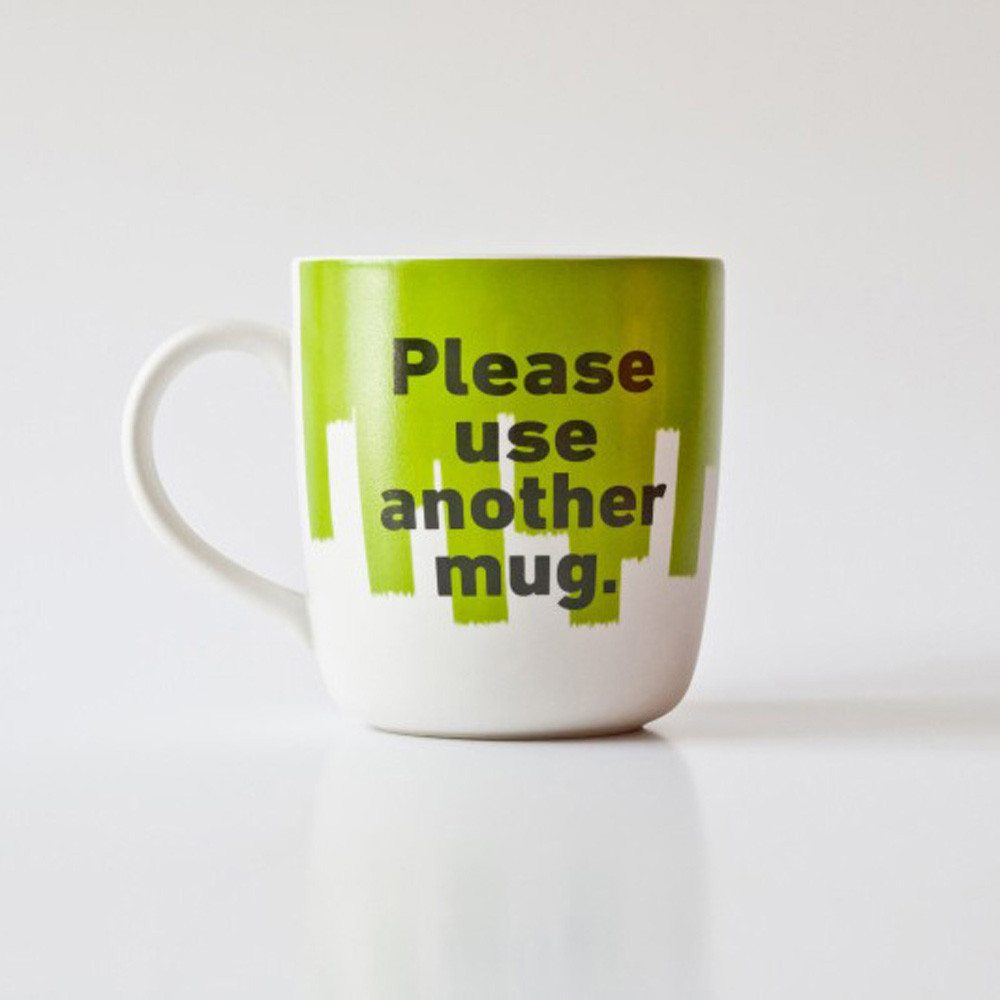 "Mok Mr. P ""Please use another Mug"""