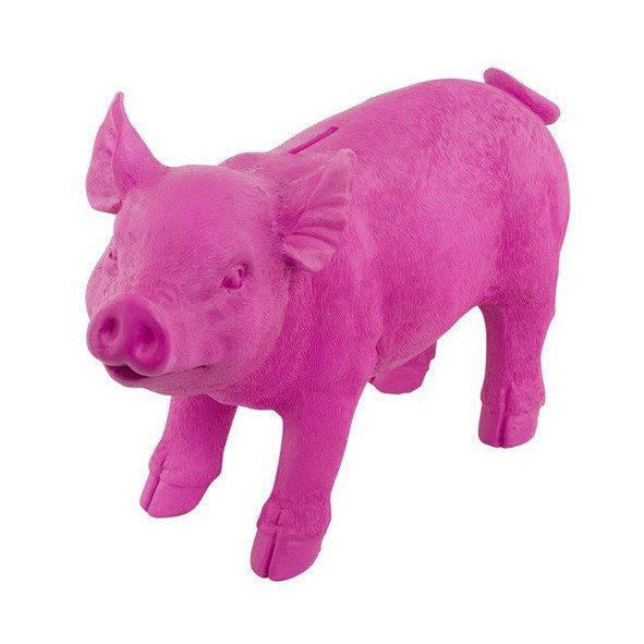 Spaarvarken in roze of zwart