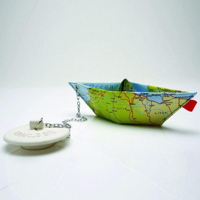 Badstop papierbootje