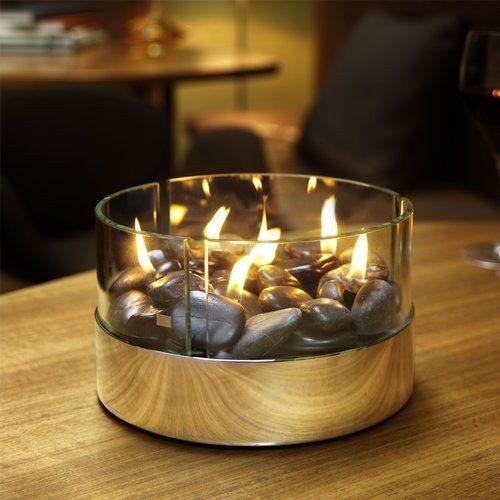 Burn - tafel open haard - Rond