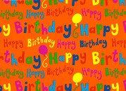 "Cadeaupapier ""Happy Birthday"""