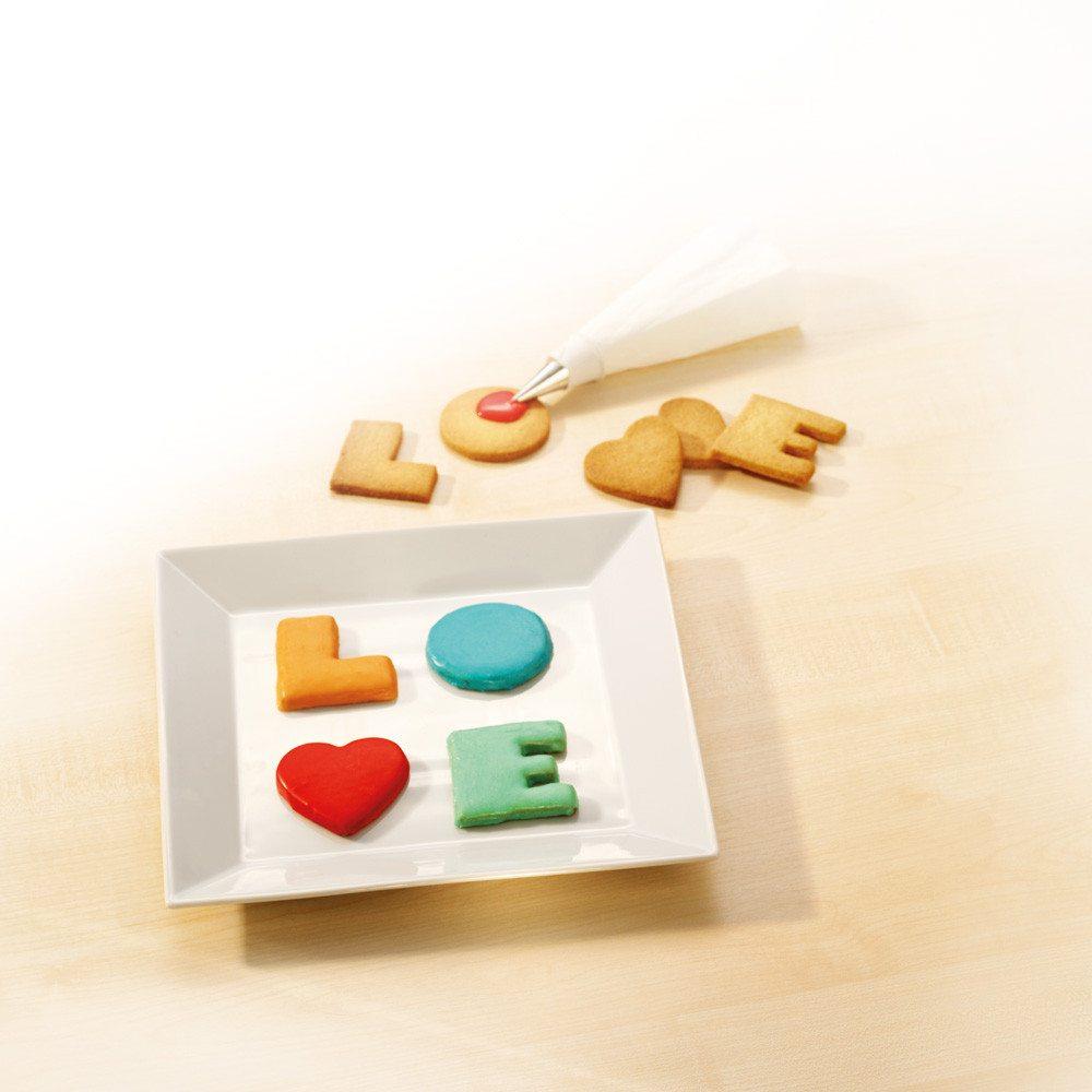 Koekjes uitsteekvormen LOVE