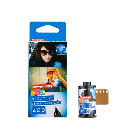 Lomography 35 mm kleuren negatieven filmrolletje ISO 400 set van 3