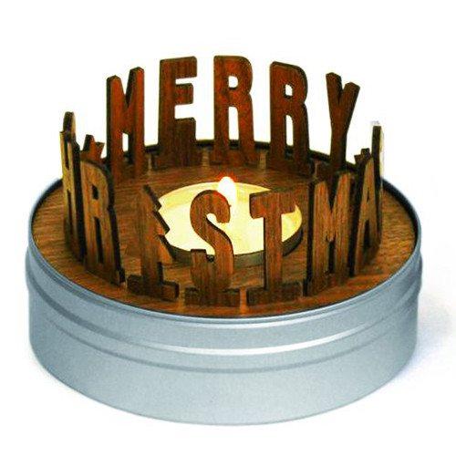 "Theelichthouder ""Merry Christmas"""