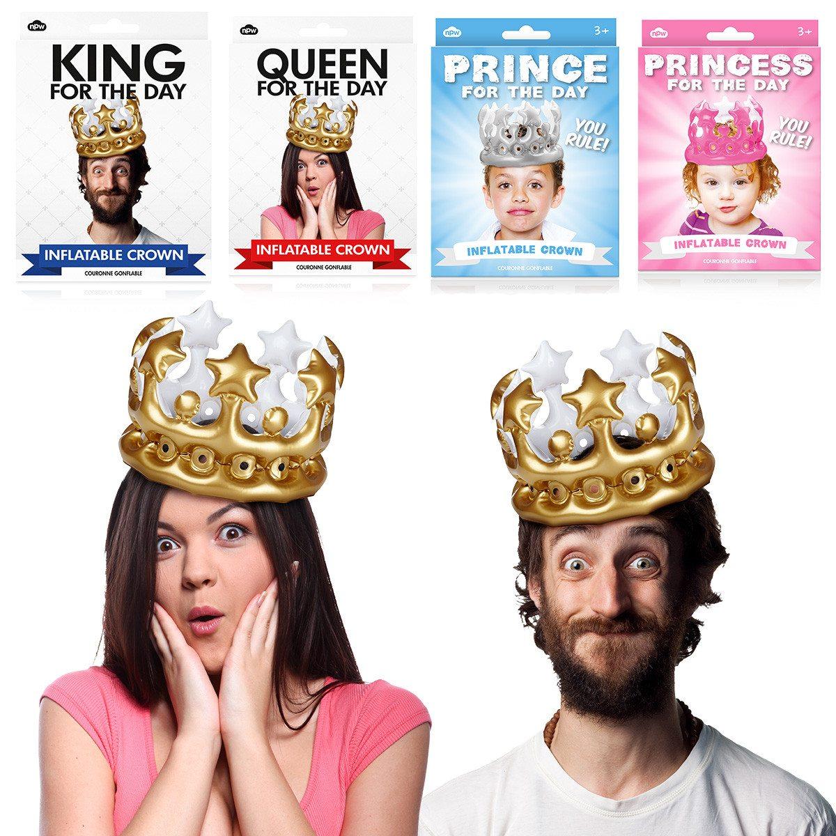 """""""Vandaag koning(in)..."""" - opblaasbare kroon"""