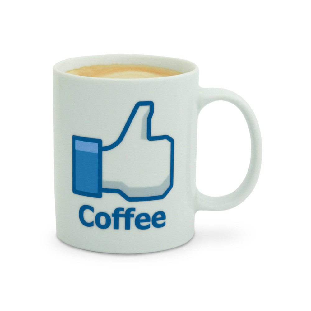 """Vind ik leuk"" - koffiebeker"