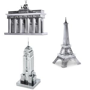 """3D-Metallbausatz """"Berühmte Gebäude"""""""