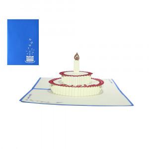 3D-wenskaart met pop-up taart