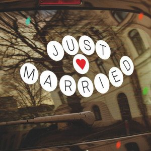 """Autostickers """"Just Married"""""""