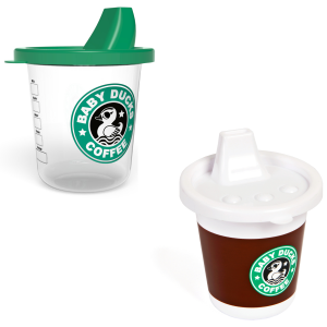Baby drinkbeker in koffie-to-go stijl