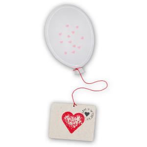 Ballonpost met confetti