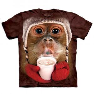 Big Face dieren T-shirts orang-oetan voor kinderen