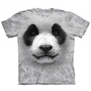 Big Face dieren T-shirts - Panda