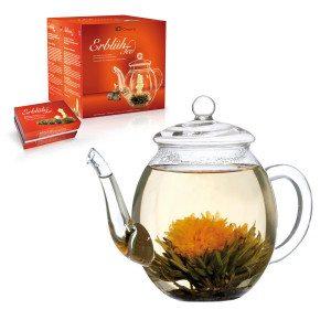 """Bloeiende thee geschenkset - """"witte thee"""""""