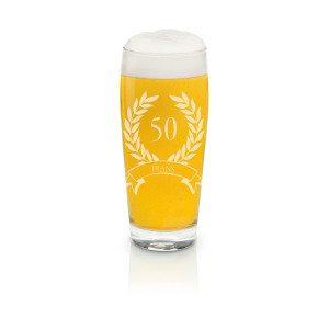 Bierglas kleines Helles-Glas mit Gravur