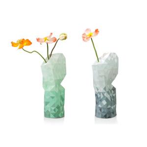 De vaas die goed doet – groot - blauw en groen