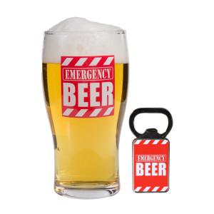 Emergency bierglas met flesopener