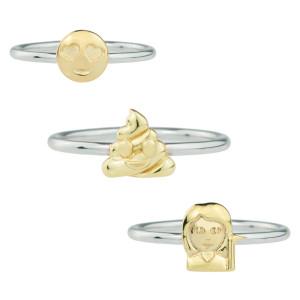 Emoji-ring van sterling zilver