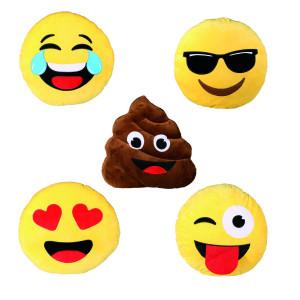 Emoticonkussen - keuze uit vijf verschillende designs