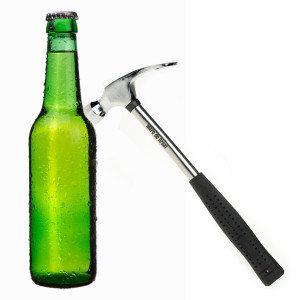 """Flaschenöffner """"Feierabend-Hammer"""" mit Gravur (NL)"""