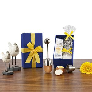 Geschenkset met ei onthoofder