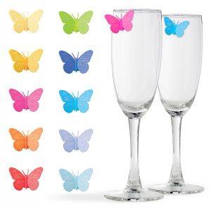 """Glasmarkers """"Vlinders"""""""