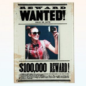 "Glazen fotolijst ""Wanted"""