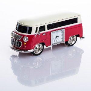 Grappig klokje als Volkswagen busje