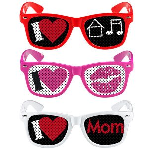 Grappige brillen - I love
