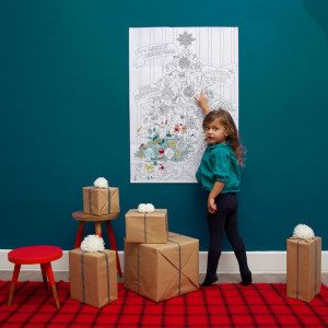 Grote kleurposter ''kerstboom''