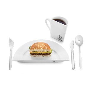 Grappig dieetservies