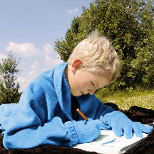 Handige omslagdeken voor kinderen