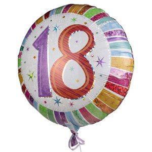 "Heliumballon ""18e verjaardag"""