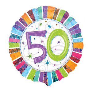 "Heliumballon ""50e verjaardag"""