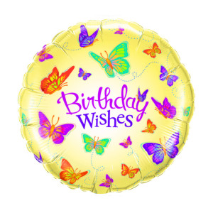 "Heliumballon ""Birthday wishes"""