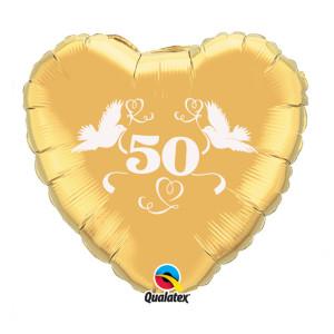 "Heliumballon ""Gouden bruiloft"""