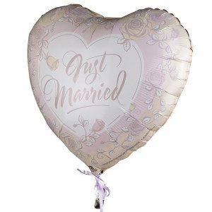 """Heliumballon """"Just Married"""" (rozen)"""