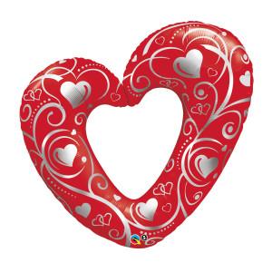 "Heliumballon ""Rood hart"""