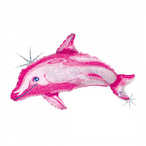 "Heliumballon ""Roze dolfijn"""