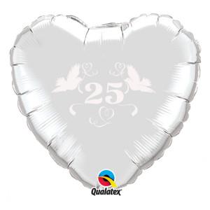"""Heliumballon """"Zilveren bruiloft"""""""