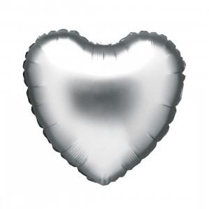 """Heliumballon """"Zilveren Hart"""""""