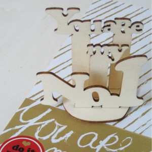 "Houten mini-puzzel ""You are my No. 1"""